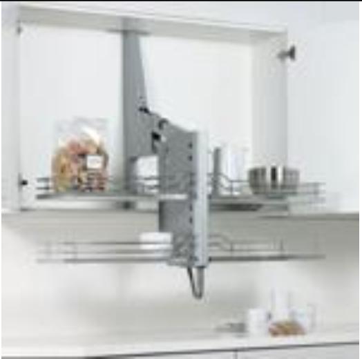 Les tag res escamotables for Meuble cuisine table escamotable